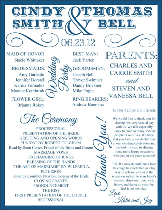 30 wedding program design ideas guide party guest