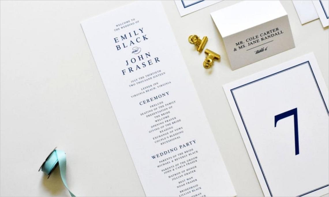 10 simple wedding programs for no fuss info