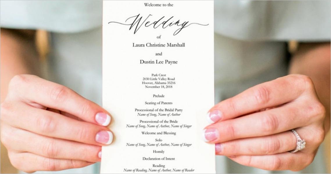 a brides diy interfaith wedding program