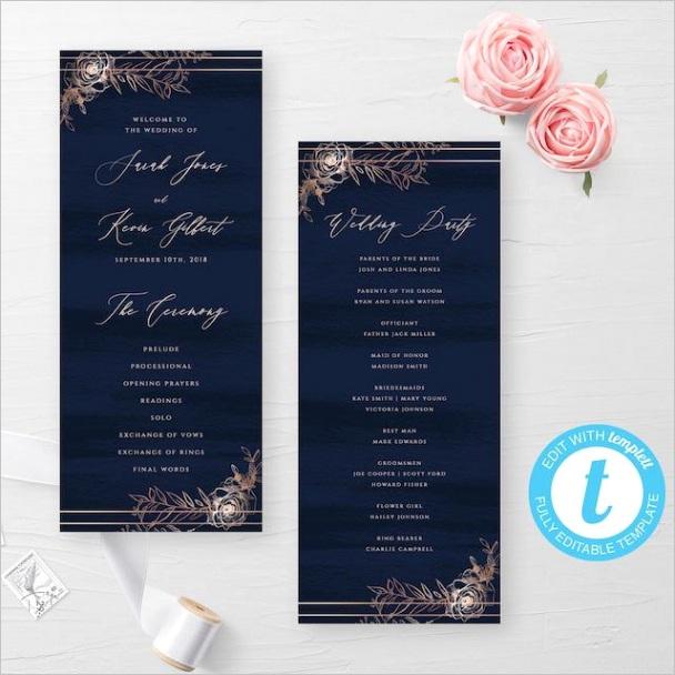 unique wedding ceremony programs