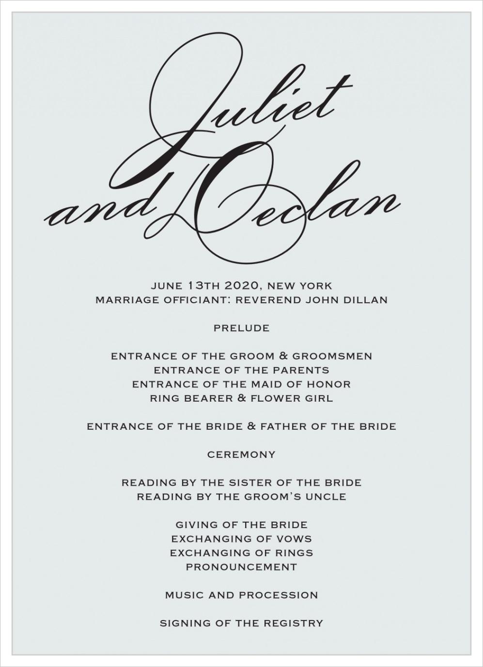 classic script wedding programsml