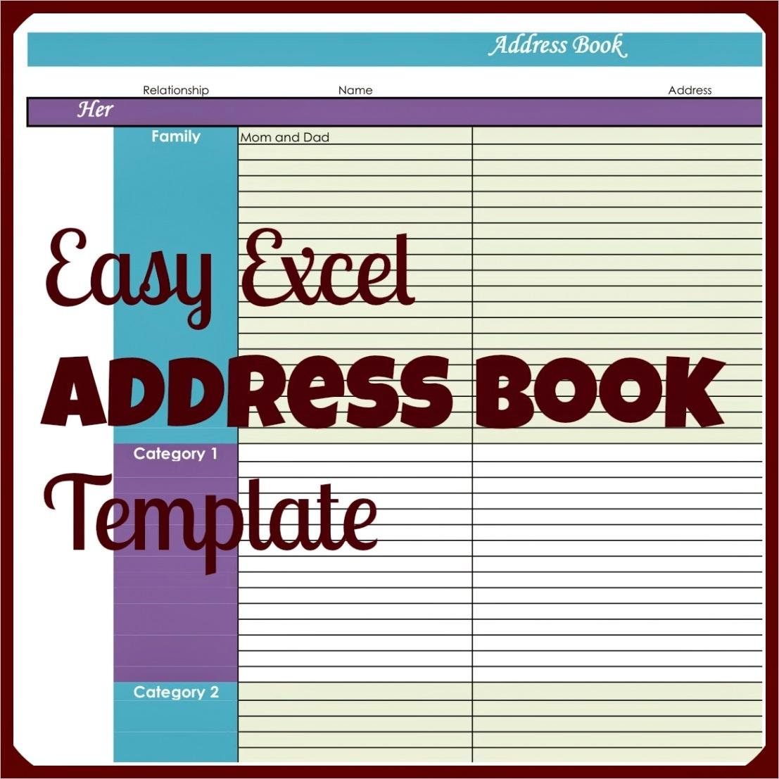 easy excel address book templateml