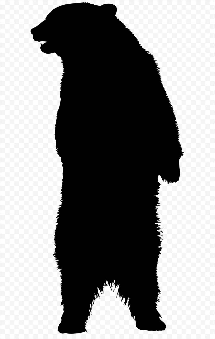 black bear silhouette patternml