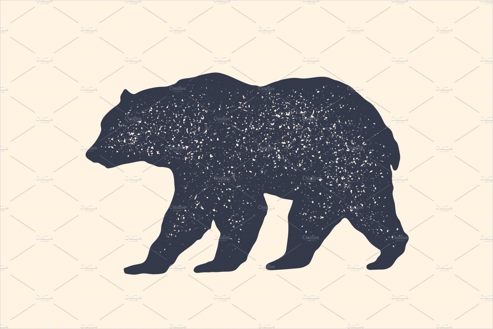 Bear silhouette Vintage logo