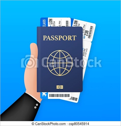 blank passport template and airline ml