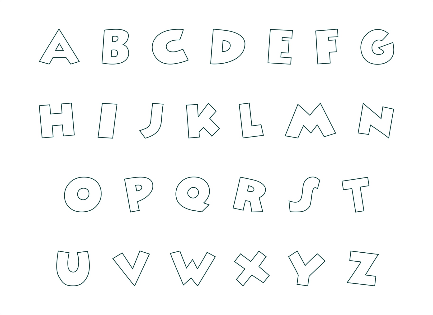 post printable block letters small medium
