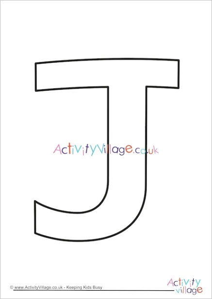 letter template upper case j quirky