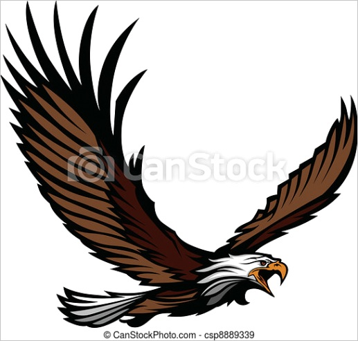 eagle mascot flying with wings ml