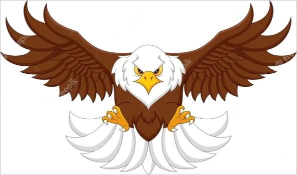 cartoon eagle flying m