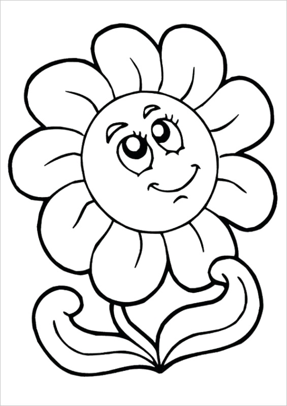 Flower Circle Coloring Page