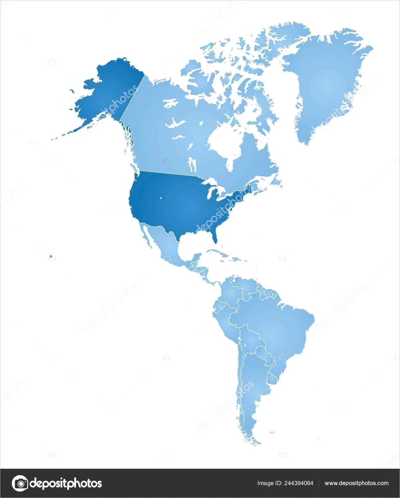 stock illustration outline map americasml