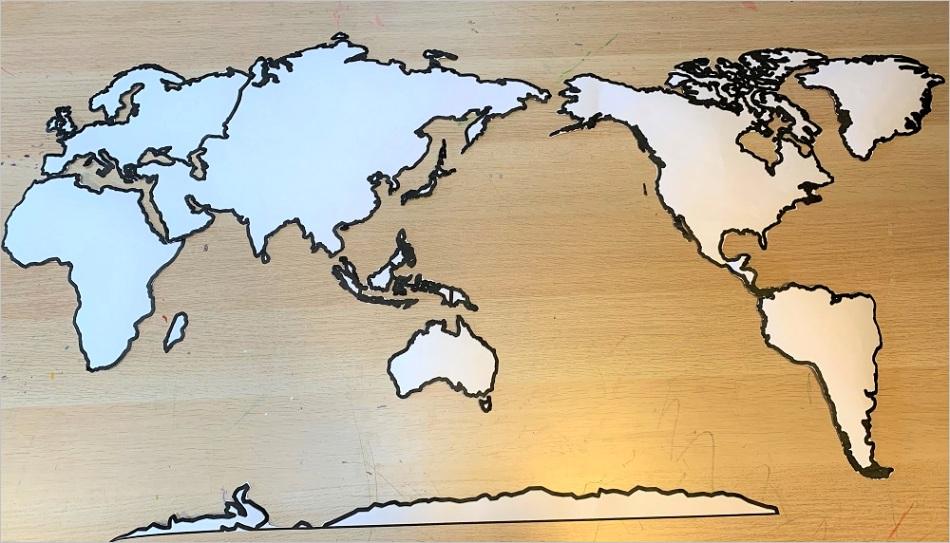 diy felt continent map montessori style