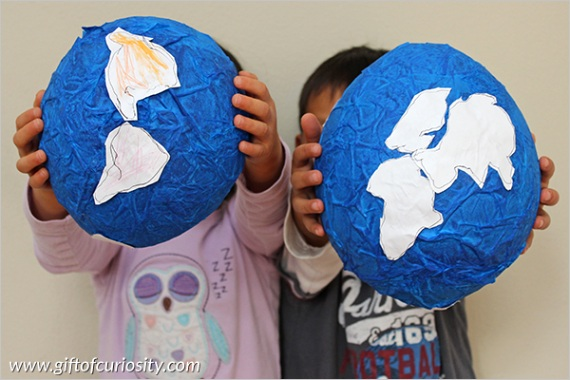 teach the continents by making a globe