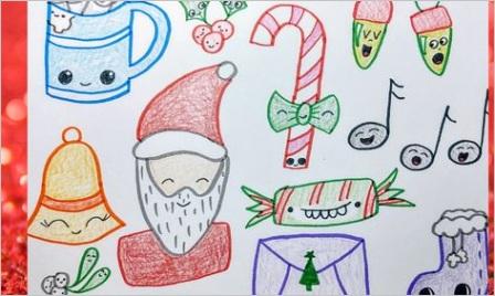 cute christmas drawing 2 kawaii doodles 7FGMLIhG