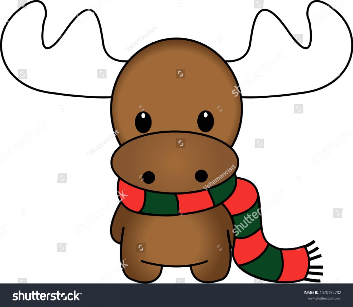 drawing cute christmas reindeer