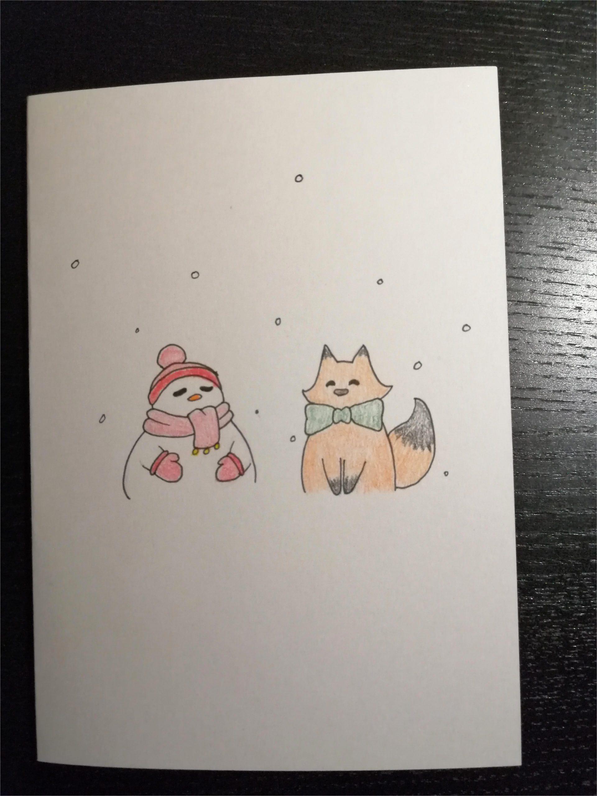 made this cute christmas card