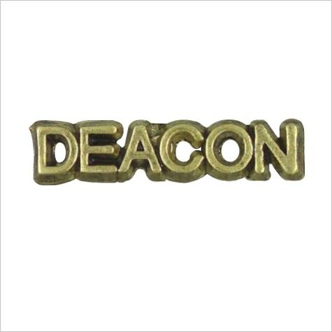 deacon lapel pin antique gold tone metal p 4129