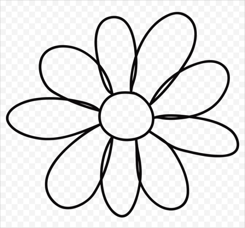 m2i8i8G6i8b1Z5N4 flower petal stencil flower with 9 petals