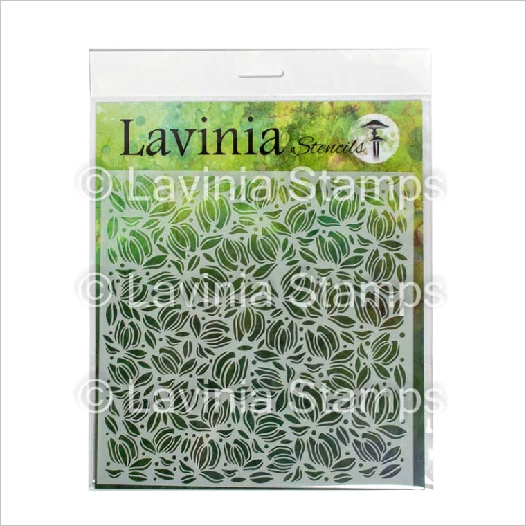 lavinia stencil flower petals st020m