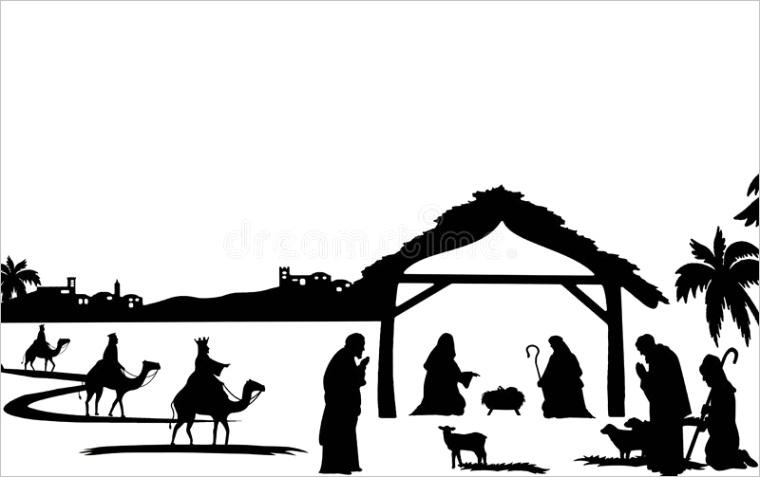 nativity silhouetteml