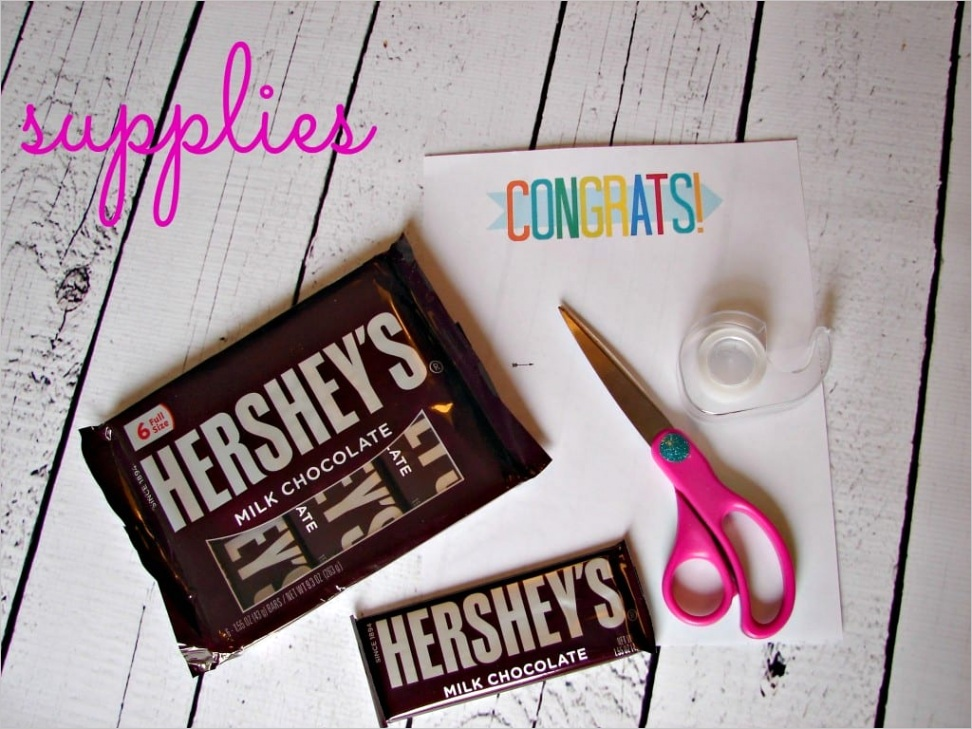 free candy bar thank you and congrats printablesml