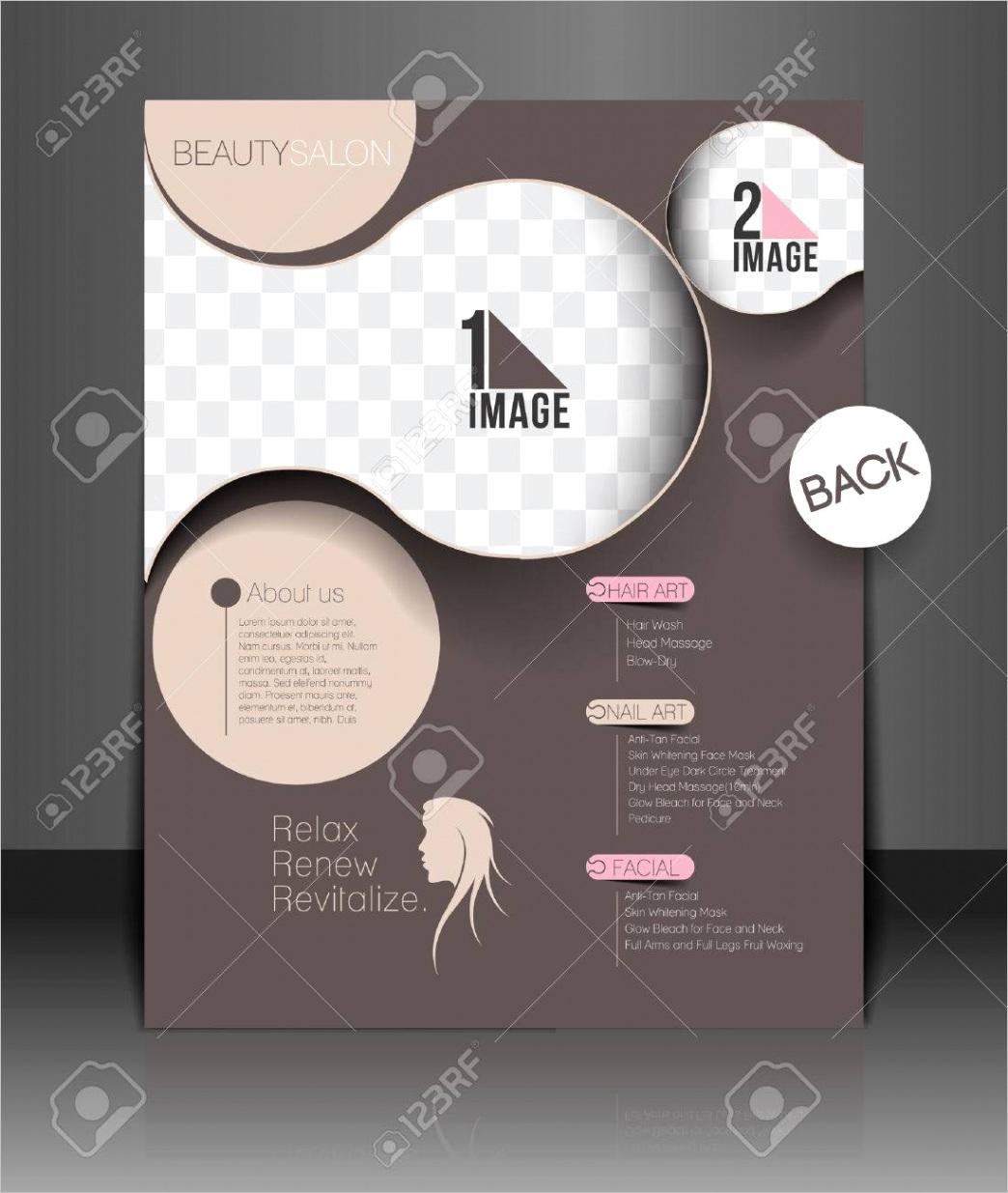 photo beauty care salon flyer poster template