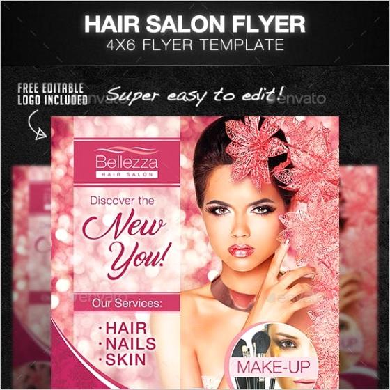 hair salon flyer in graphics