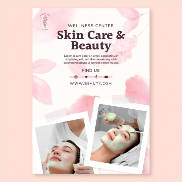 beauty salon flyer template m