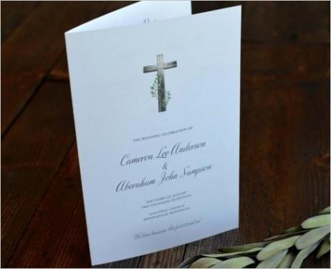 religious wedding programs