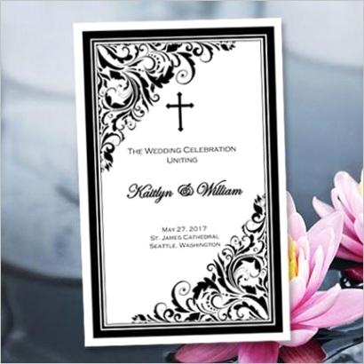 catholic church wedding program brooklyn black