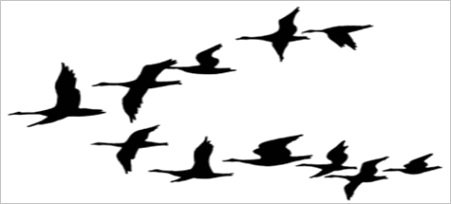 geese silhouette cliparts