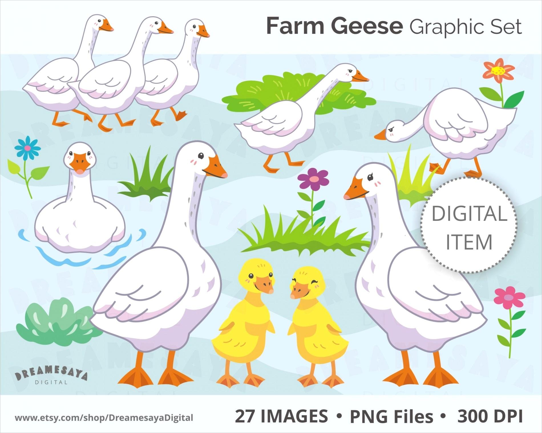 goose clipart white farm geese