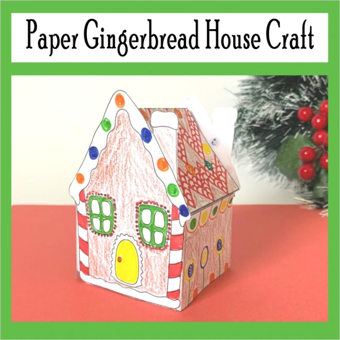 paper gingerbread house craft