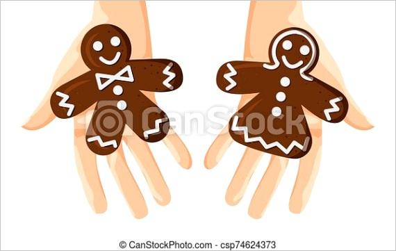 vector illustration of gingerbread men ml
