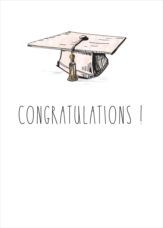 rae dunn graduation cap pink inspired 5x7 printable template