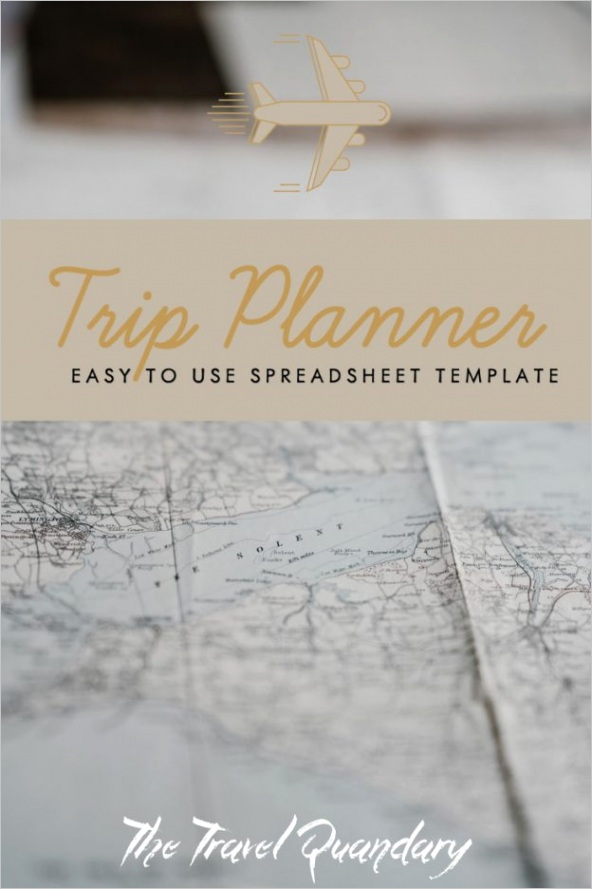 trip planner template free excel