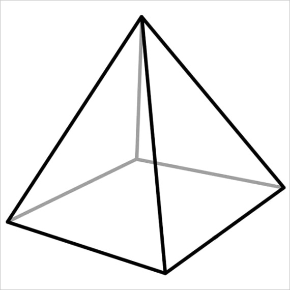How many vertices does a square pyramid have
