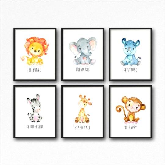 animals printable nursery art jungle