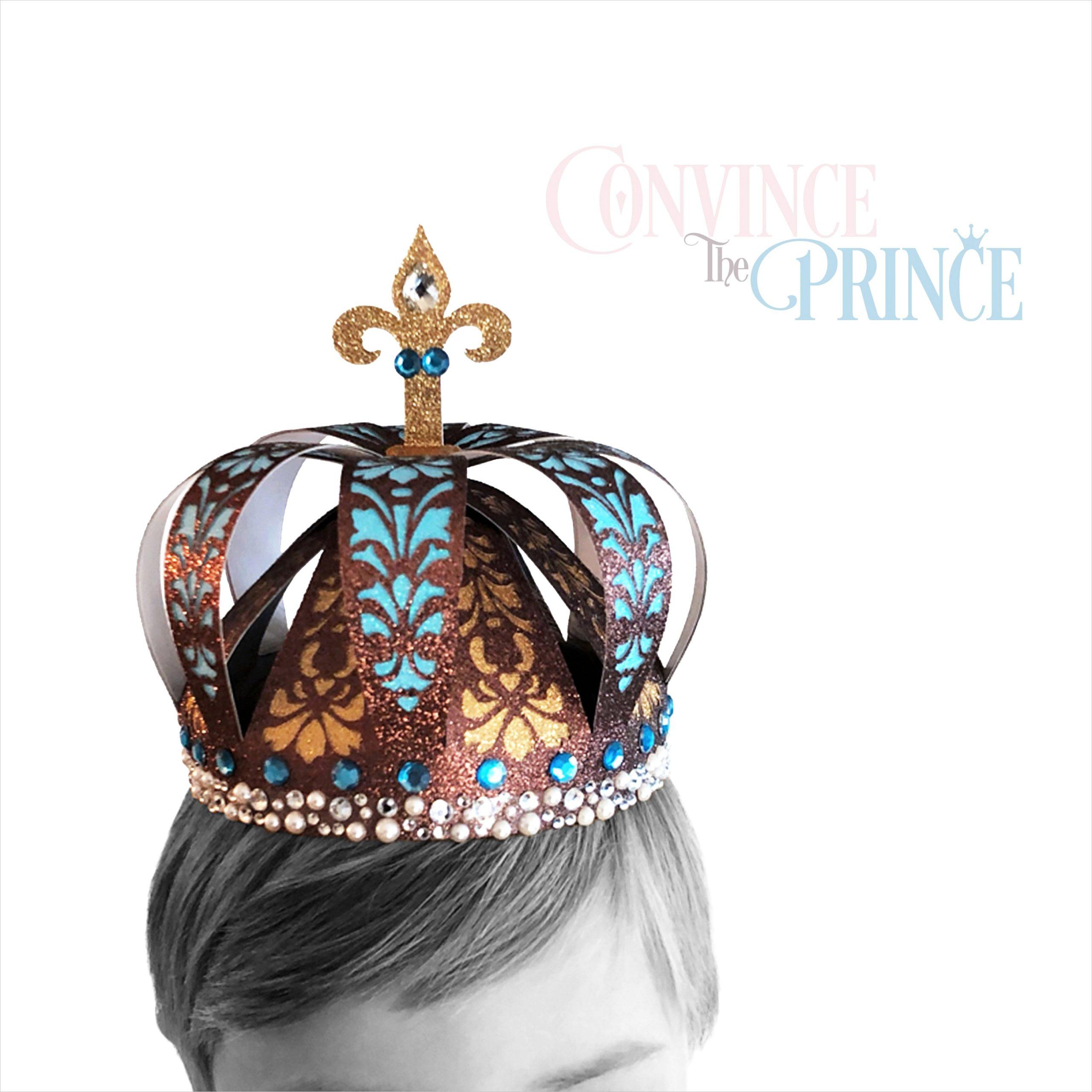 3d king crown template svg royal
