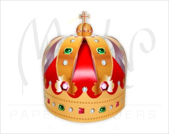 paper crown template crown pattern
