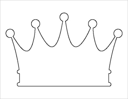 queen crown template cut outml