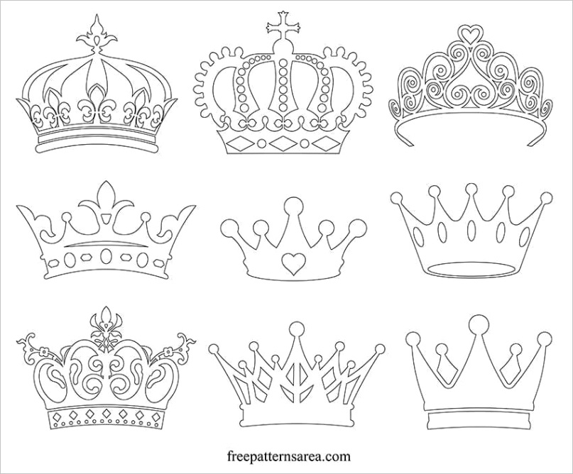 crown silhouette vector images