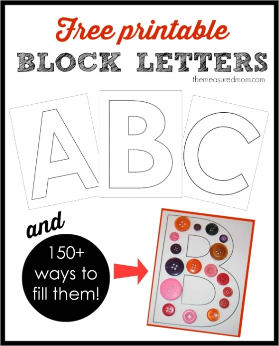 printable block letters 150 ways fill