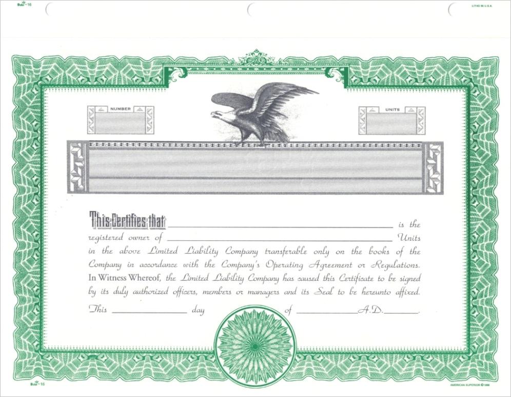 duke 16 llc certificatesx