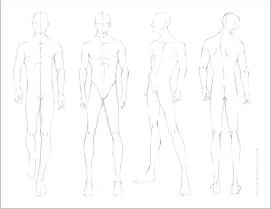 fashion design croquis template male