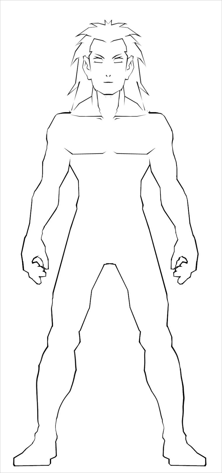 male body template 2