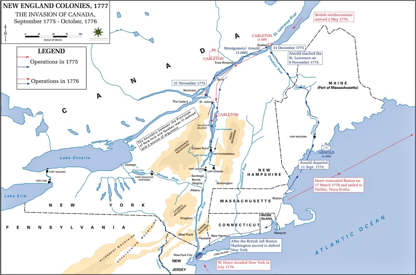 american revolution campaigns 1775 1776