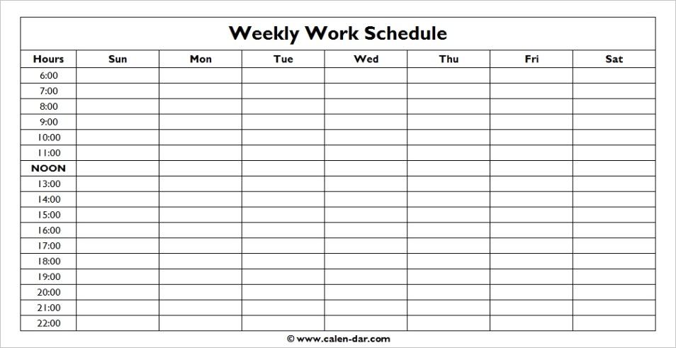 weekly schedule templateml