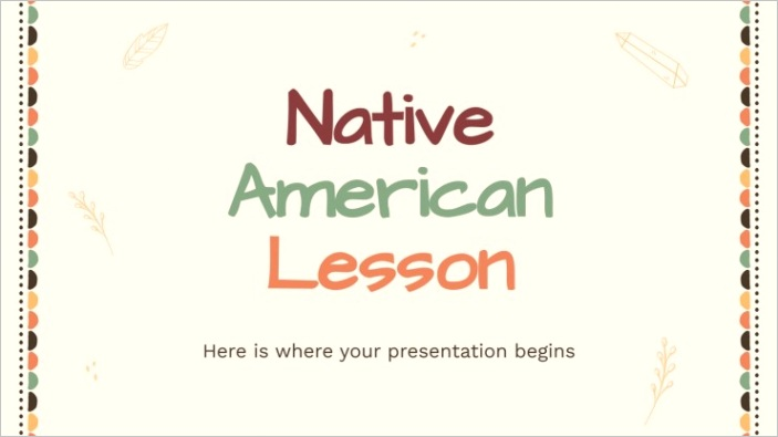 native american lesson
