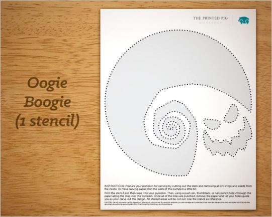 printable pumpkin carving pattern oogie
